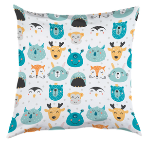 Personalised Animal Smiles Cushion Cover