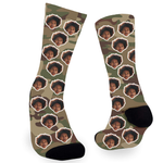 Army Green Camo Face Socks