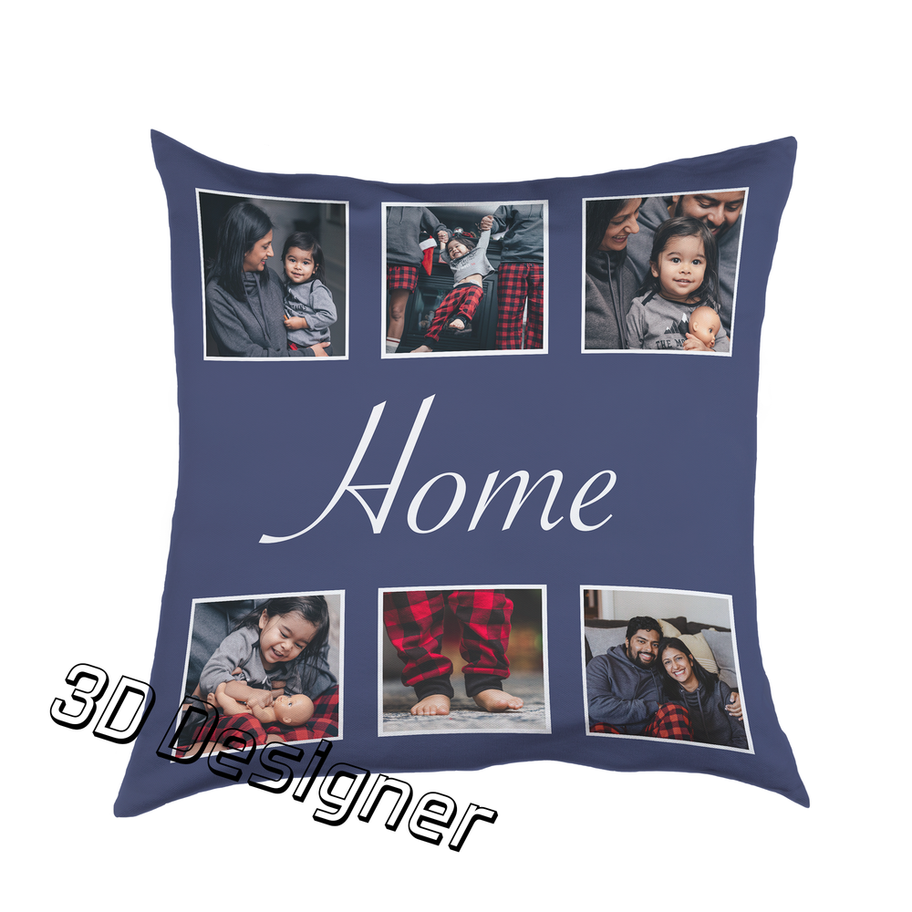 Six Photos With Text Cushion