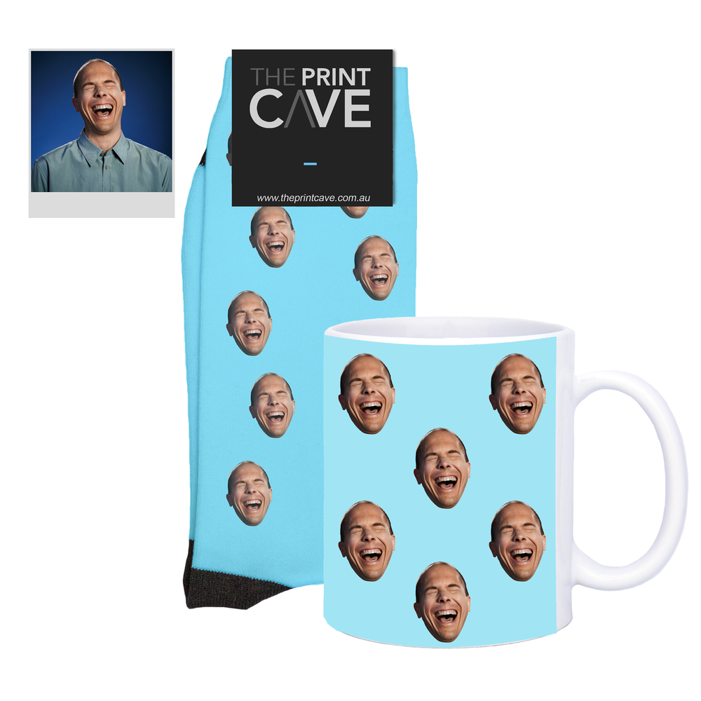 Classic Face Socks and Mug Set
