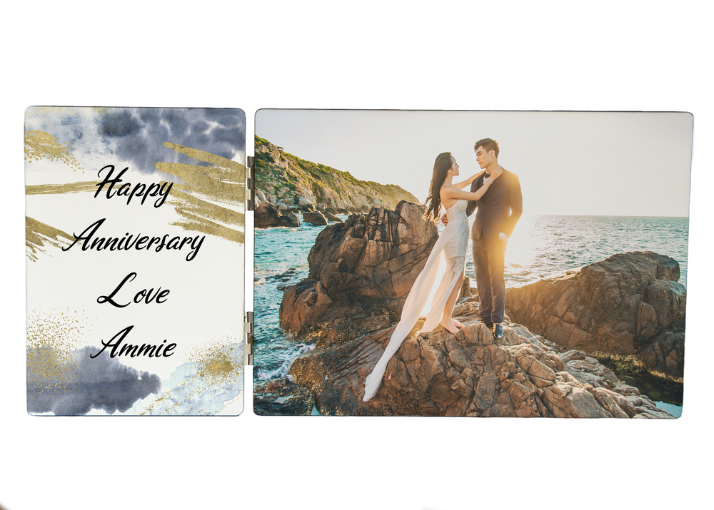 Load image into Gallery viewer, Anniversary Photo & Text Photo Panel
