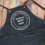World's Best Dad Denim Apron