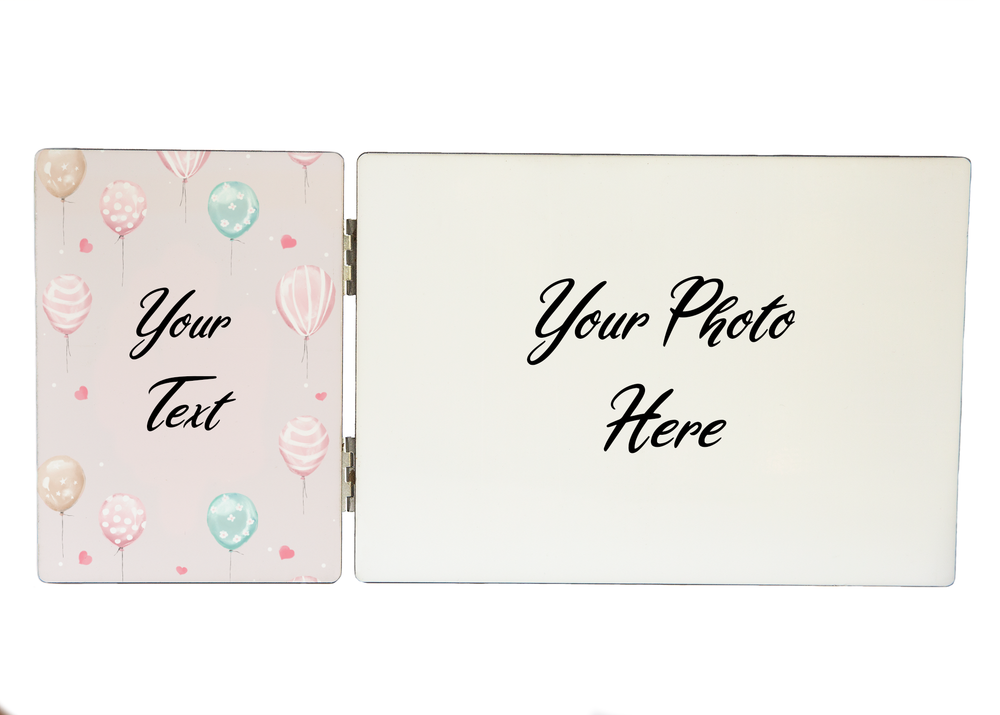 Newborn Girl Photo & Text Display Panel