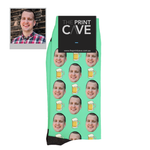 Custom Face Socks with Beer Design