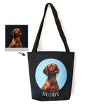 Custom Pet In Circle Tote Bag