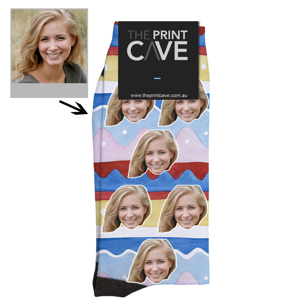 Colour Waves Face Socks