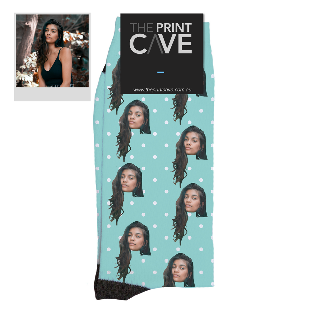 "Custom Face ""Polka Dots"" Socks"