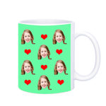 Face Mug with Hearts