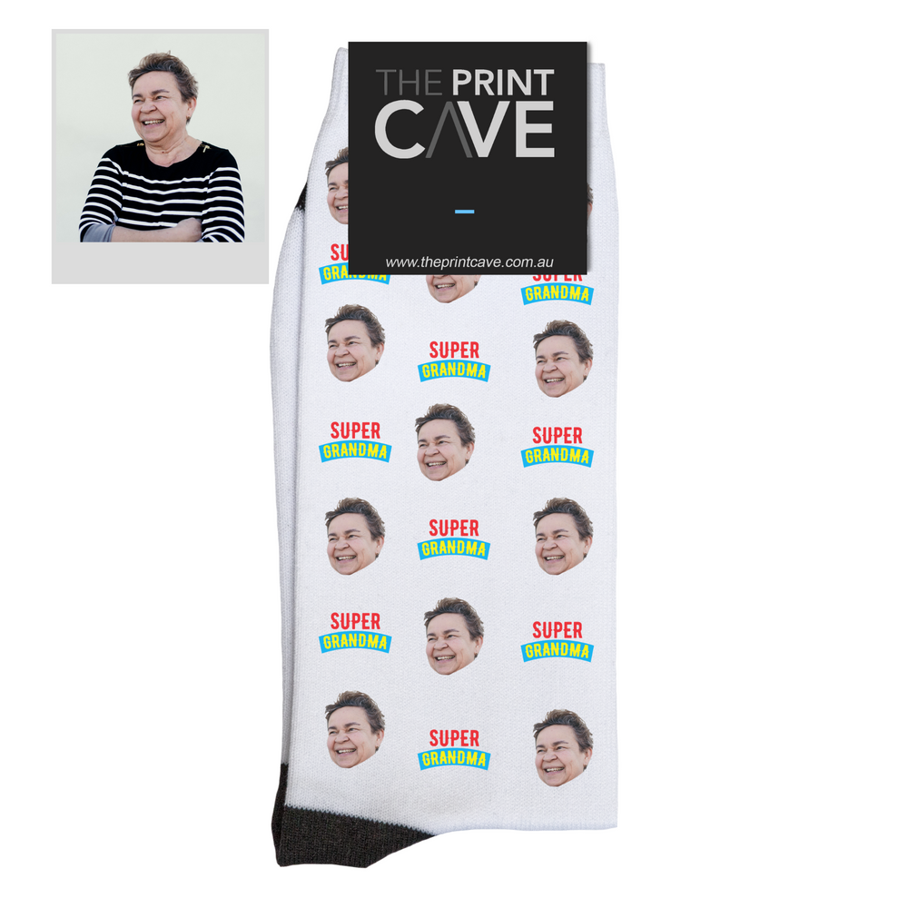 Super Grandma Face Socks