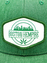 Load image into Gallery viewer, Boston Hempire Green Trucker Snapback
