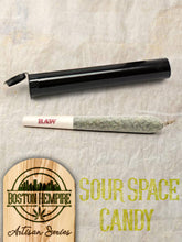 "Load image into Gallery viewer, Sour Space Candy Pre Roll ""Fatties"" - 1.25+ gram, 12% CBD"