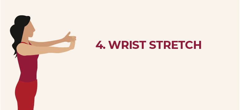 Wrist stretch for work from home