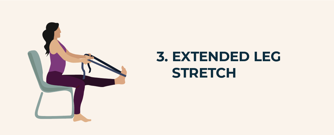 Extended leg stretch with a belt