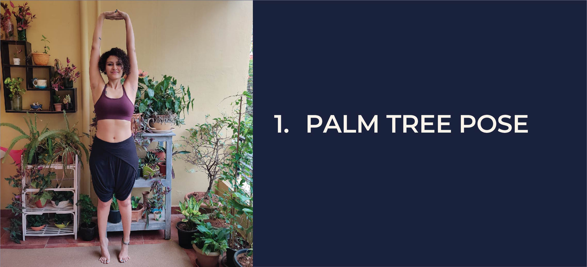 pro tip for the palm tree pose