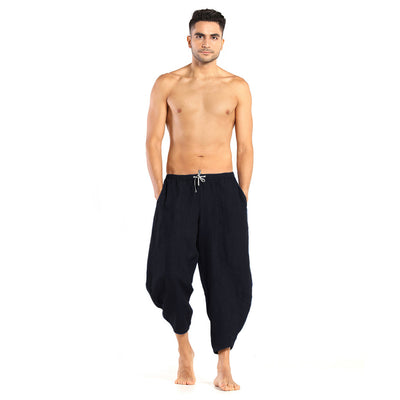 Men's Linen Pants: Kosa Black