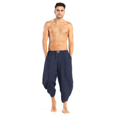 Men's Linen Pants: Kosa Navy