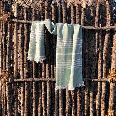 Arasa-Bamboo-Towel-Green-Hung