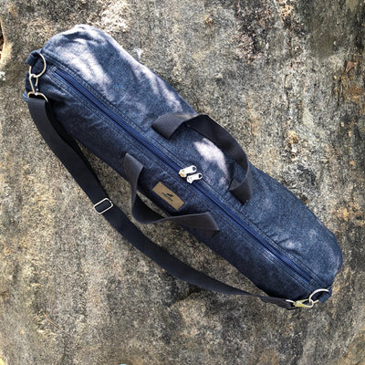 Yoga Mat Bag in Denim with Zipper