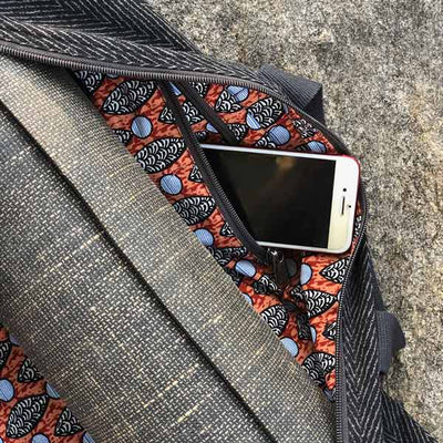 Yoga Mat Bag in Black with Pocket for Phone