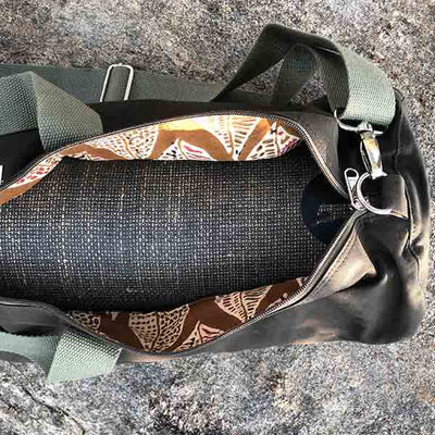 Olive Yoga Mat Bag with Lining