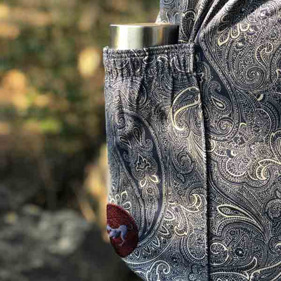 Paisley Print Yoga Mat Bag with Bottle Holder