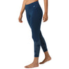 Organic Cotton and Lycra Printed Teal Tights Side View