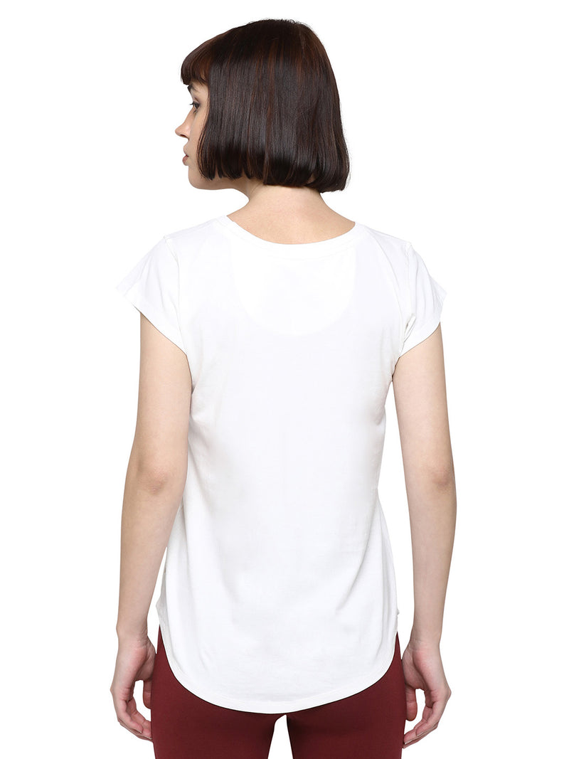 Navagunjara Yoga Tee: Off White