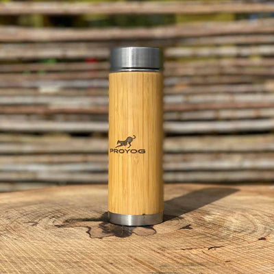 Bamboo and Steel Bottle with Cap