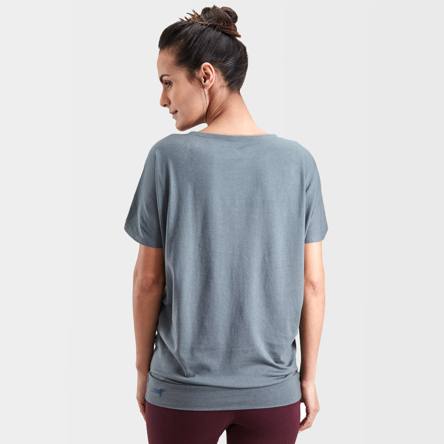 Proyog yoga top cotton modal balsam green front