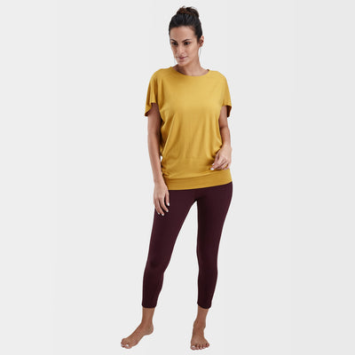 Proyog yoga top cotton modal mustard full