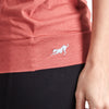 Proyog yoga top cotton modal salmon detail