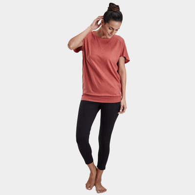 Proyog yoga top cotton modal salmon full