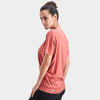 Proyog yoga top cotton modal salmon side