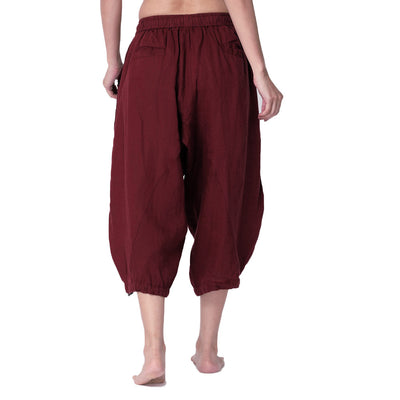 Moksha-34th-Pants-Maroon-Back