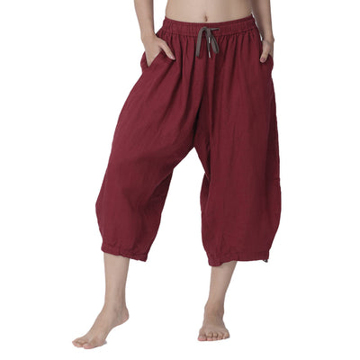 Moksha-34th-Pants-Maroon-Front