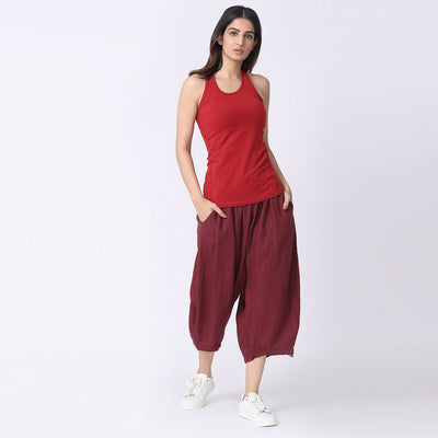 Moksha-34th-Pants-Maroon-Look
