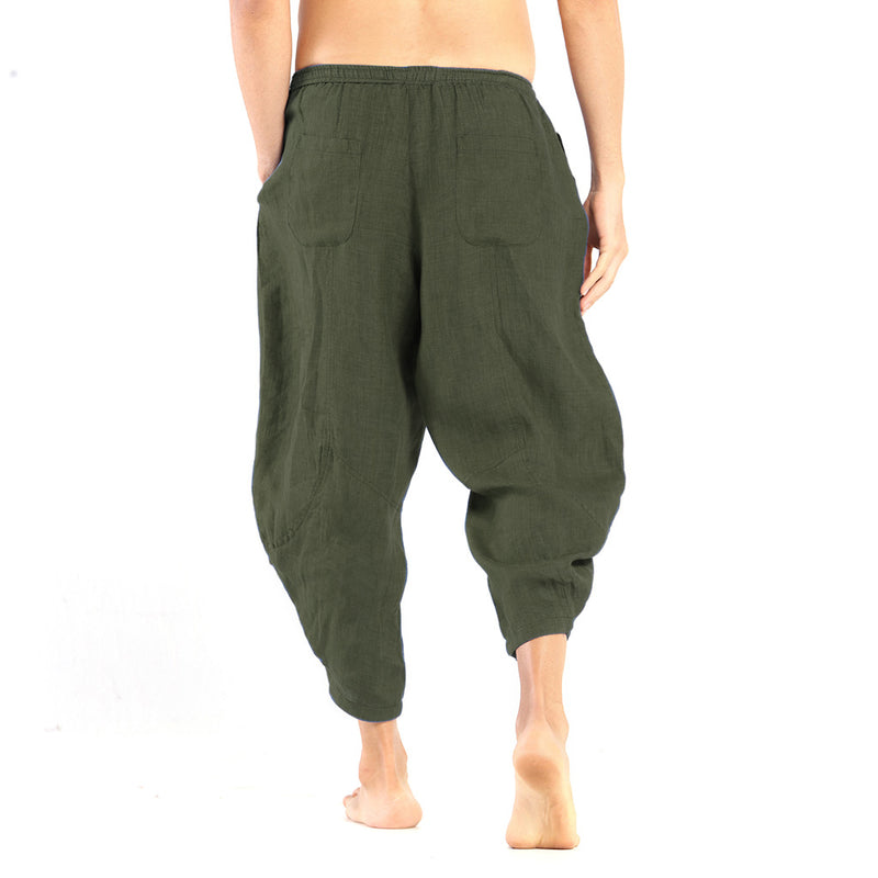 Men's Linen Pants: Kosa Olive