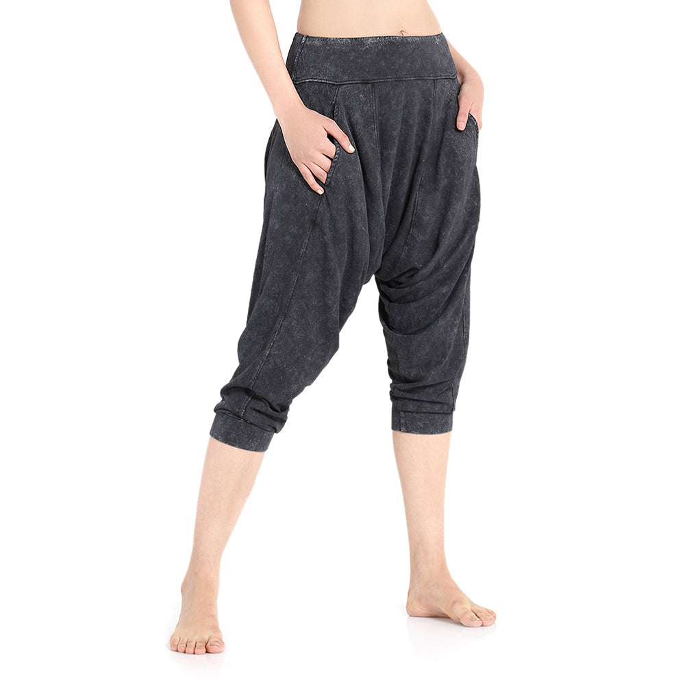 Vira Yoga Dhoti Pants: Washed