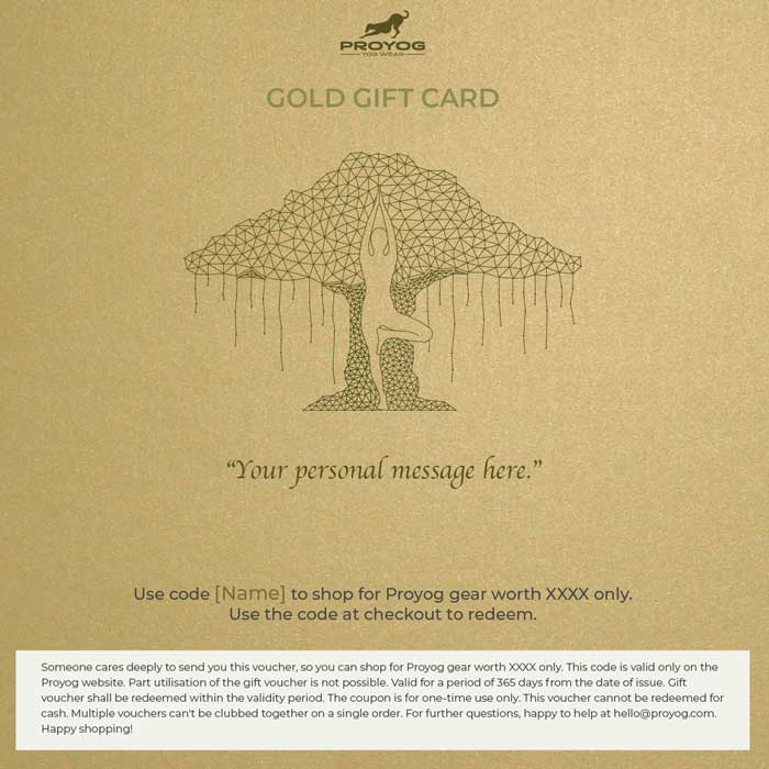 Proyog Gold Gift card