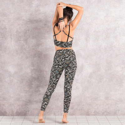 Anjali Yoga Tights: Madhubani Print