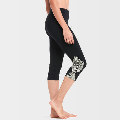 Shakti 3/4th Yoga Tights: India Ink Black