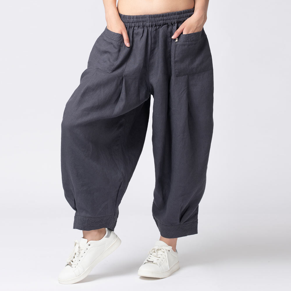 Tapas-Pleated-Pants-Slate-Grey-Front