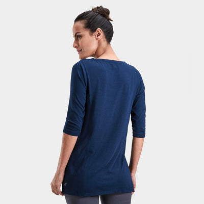 Yoga Tunic: Trikon Deep Teal