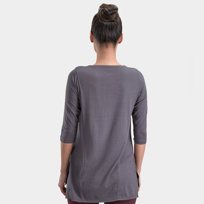 Proyog yoga tunic cotton modal forged iron back