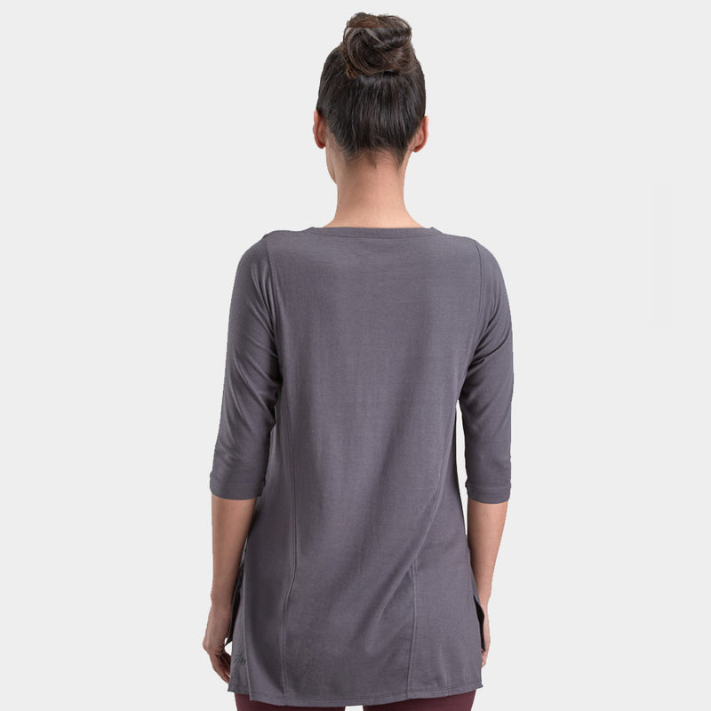Proyog yoga tunic cotton modal forged iron front