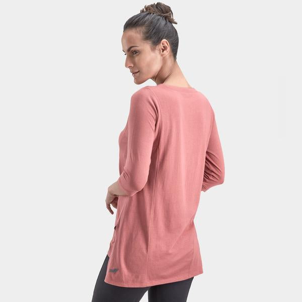 Trikon Yoga Tunic: Salmon