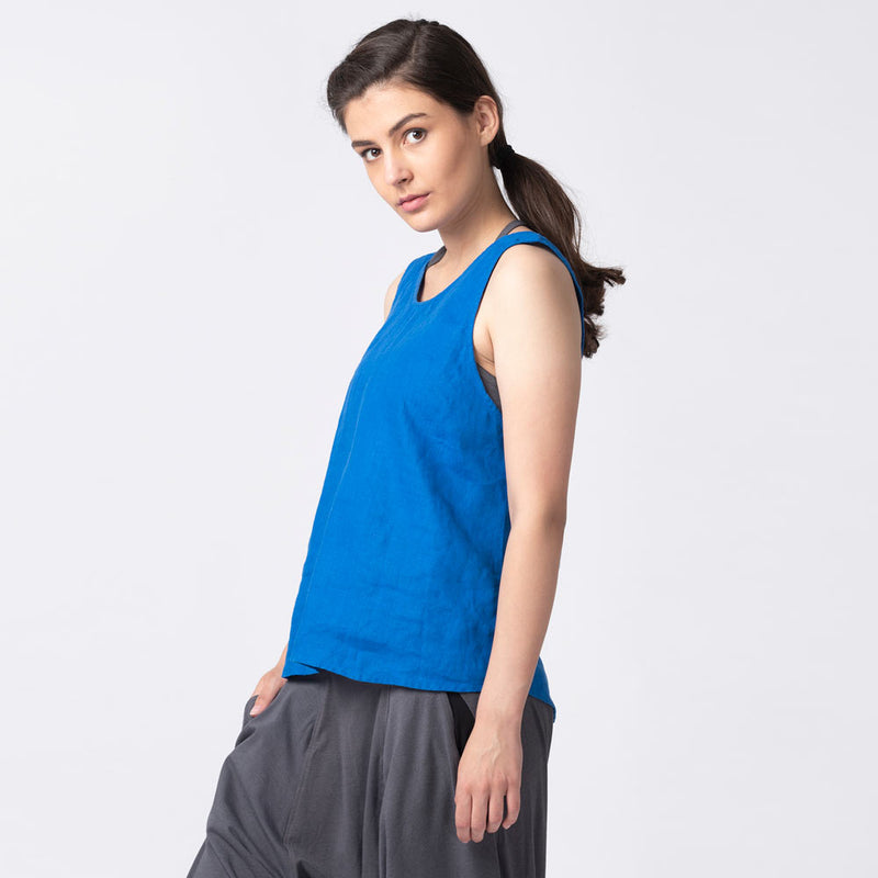 Veda-Overlap-Open-Back-Top-Surf-Blue-Front
