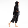 Linen Pants 3/4th: Moksha Black