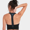 Proyog racer back bra organic cotton black back