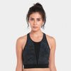 Proyog racer back bra organic cotton black front